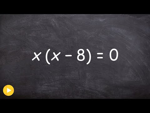 Using the zero product property to solve an equation