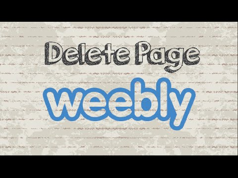 How to delete a page on Weebly