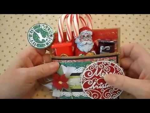 Paper Bag Christmas Goodie Holders