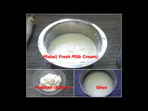 How To Make Butter & Ghee From Malai (Fresh Milk Cream) At Home (In Hindi)