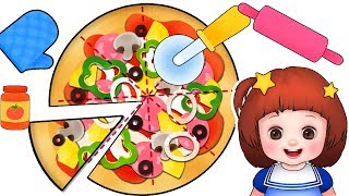 Baby Doli Pizza bread cooking play and baby doll kitchen toys play