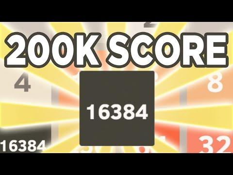 2048: 16384 Tile + 200,000 Score!