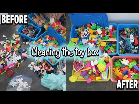 ORGANIZING THE TOY BOX! | SAHM OF 3