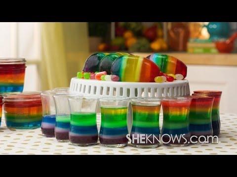 Rainbow Jello Eggs