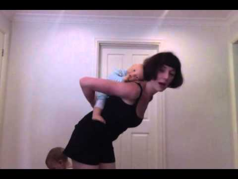 How to torso carry using a beach towel. Great for older babies and toddlers.