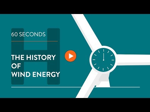History of wind energy - IN 60 SECONDS