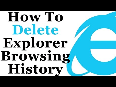 How To Erase Your Internet Explorer Browsing History