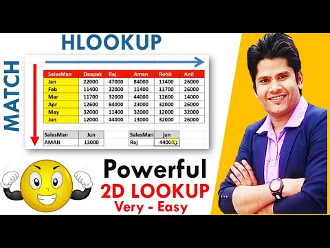 How To Use Hlookup With Match Function in Excel in Hindi