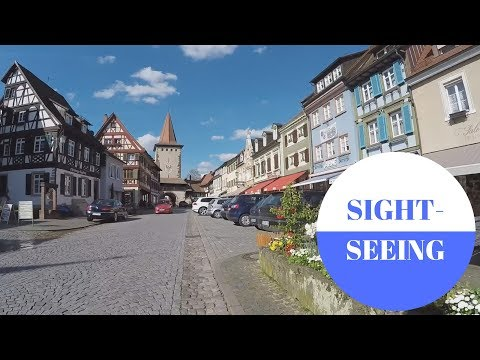 Sightseeing in Gengenbach im Black Forest in GERMANY