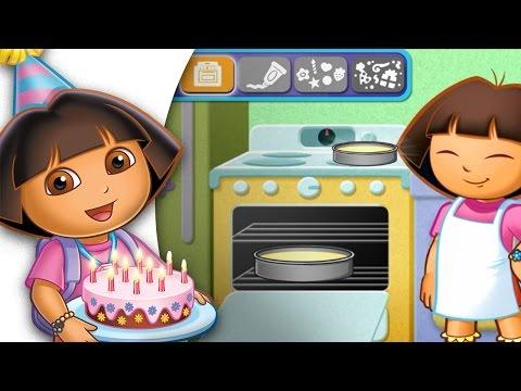 Dora baking a Birthday cake | Dora the Explorer Game for kids