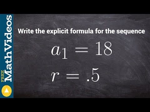 Given the first term and common ratio, find the explicit formula of the geometric sequence