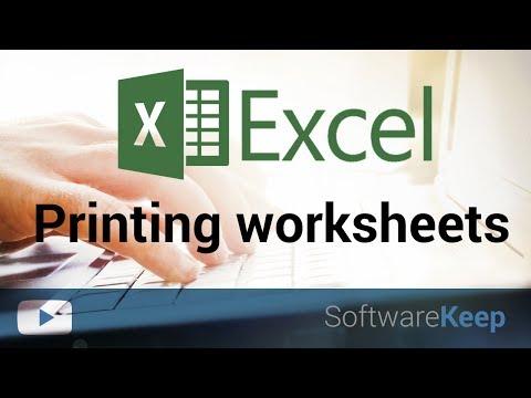 Print worksheets and workbooks in excel - Excel Tutorial