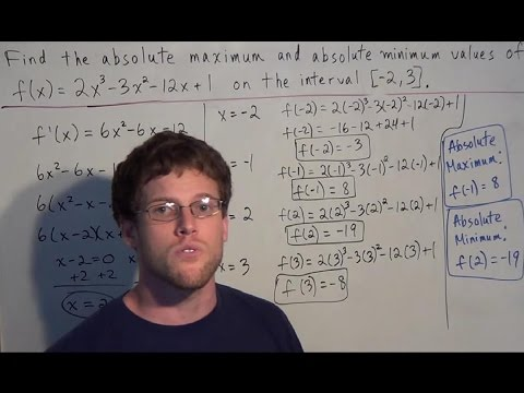 Absolute Maximum and Minimum Values of a Function - Calculus I