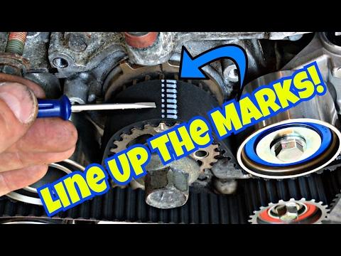 Subaru DIY:  Bent Valves are BAD! Part 2 | NEW Timing Belt Kit Installation