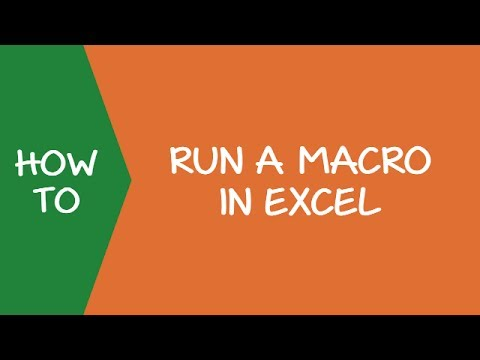 How to Run a Macro in Excel
