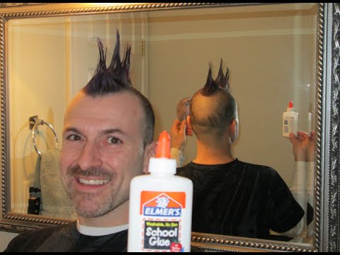 DIY Elmer's Glue styling Hair Gel trick           barber Hair spray styling salon secret