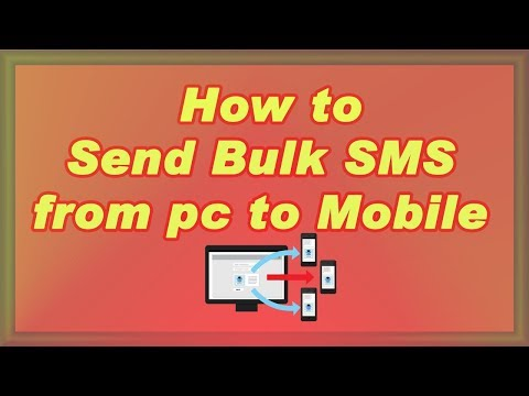 how to send bulk sms from pc to mobile ?