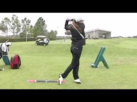 Beatriz Recari Hitting with 7 Iron