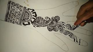 Very Easy Mehndi Design How to Make  Heena Mehndi Design