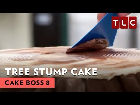 How To Make A Tree Stump Wedding Cake | Cake Boss S8E2