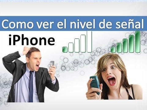 Medir la intensidad de la señal iPhone - Parte 1