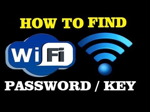 how to find wifi password or key on computer