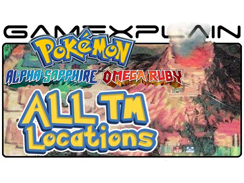 All TM Locations - Pokémon Omega Ruby & Alpha Sapphire (Guide & Walkthrough)