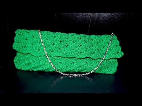 how to crochet a purse/clutch/bag
