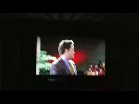 My outdoor projector movie night