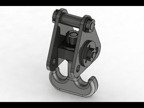 Crane hook (Part 2) AutoCAD 3D modeling tutorial   AutoCAD 3D Modeling 5