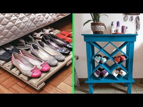 50 Pallet Shoe Rack | Creative DIY Shoe Storage Ideas