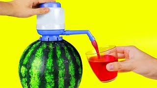 Download 17 SIMPLE LIFE HACKS WITH WATERMELON Video