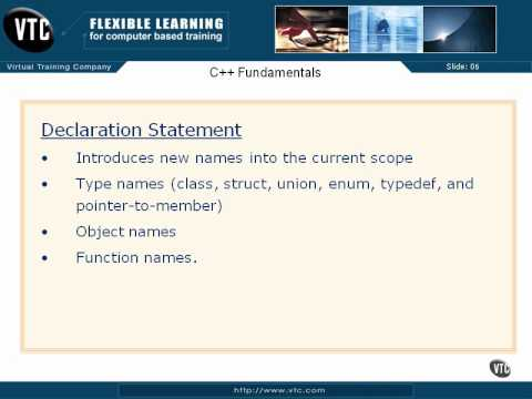 05  C++ Enums    27  Declaration Statements