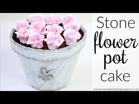 How to make a Stone Flower Pot Cake
