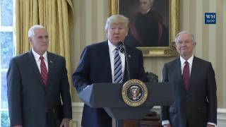President Trump Participates in the Swearing-In of the Attorney General, Jeff Sessions