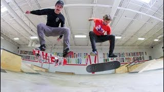 FIRST ONE TO MISS A KICKFLIP SUFFERS! / Warehouse Wednesday