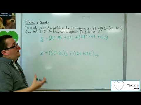 A-Level Maths 2017 Q4-09 Calculus in Kinematics: 2D Example 2