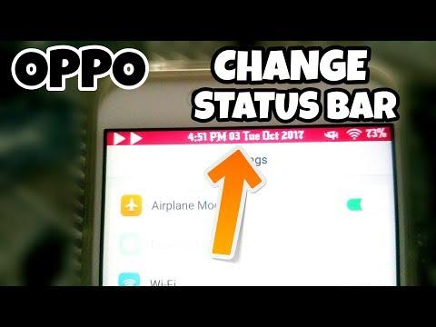 Oppo Change Status Bar