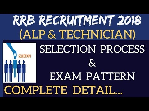 RRB 2018 ( ALP & TECHNICIAN) EXAM PATTERN AND SELECTION PROCESS