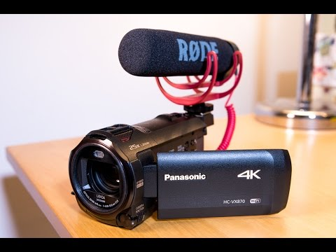 My Affordable YouTube 4K Video Camera - Panasonic HC VX870 Unboxing & Review