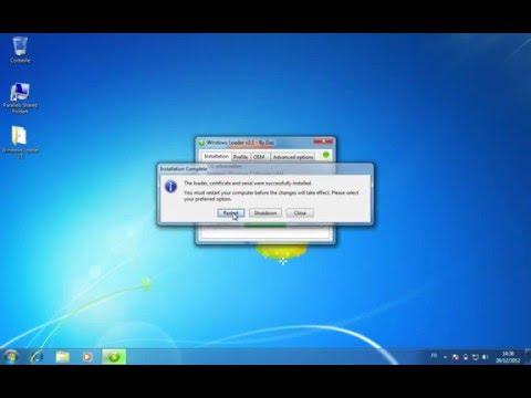 Activer Windows 7 8 xp sans clé d'activation 2016 Windows Loader
