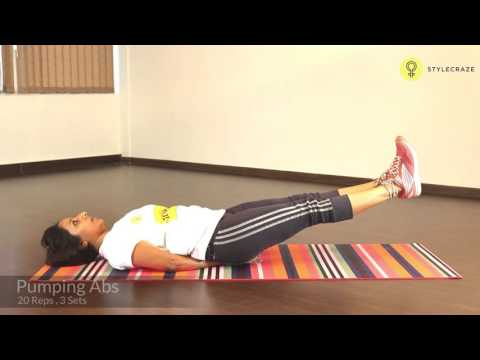 How To Do PUMPING ABS EXERCISE