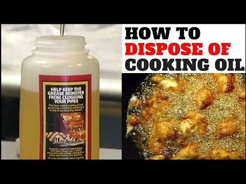 This Is How You Should Dispose Of Your Used Cooking Oil!