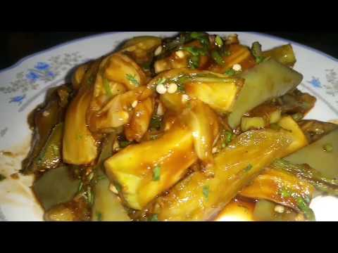 Eggplant Soy Sauce Side Dish (가지나물), without Fish Sauce