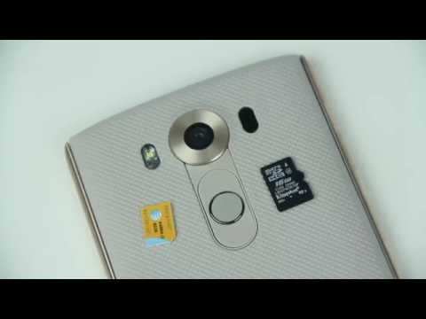 LG V10: How to Insert SIM Card & Micro SD Card