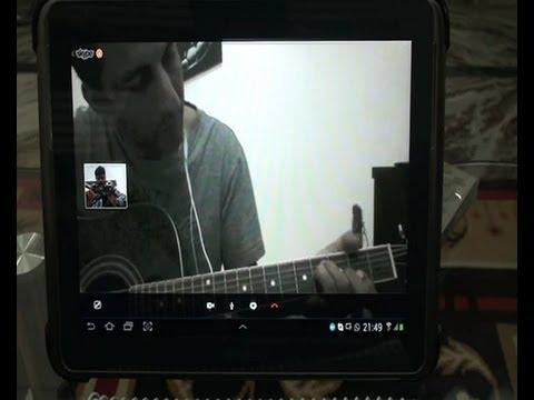 Online Student Pramod (Dubai) learning Guitar from me