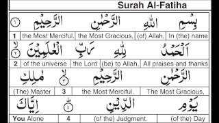 Surah 001 Word for Word  English Alafasy