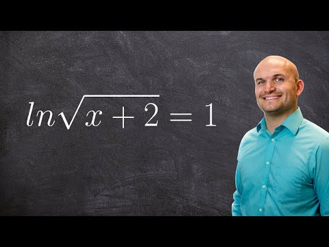 Solving the logrithmic equation with a square root