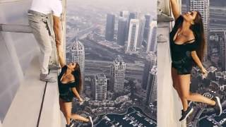 Viki Odintcova Stunning Russian queen dangles off a 1,000ft-high Dubai  without ANY safety equipment