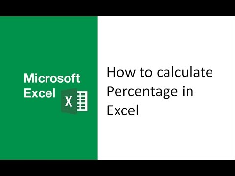 How to calculate percentage in excel, use percentage formula in excel, find percentage in excel